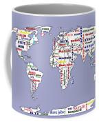 Steve Jobs Apple World Map Digital Art Coffee Mug