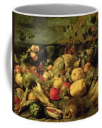 Still Life Of Fruits And Vegetables Coffee Mug