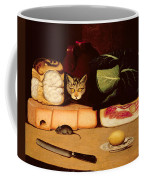 Still Life With Cat And Mouse Coffee Mug