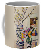 Still Life With Flowers In A Vase   Coffee Mug