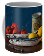 Still Life With Mackerels Lemons And Tomatoes Coffee Mug