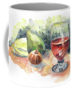 Still Life With Red Wine Glass Coffee Mug
