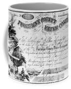 Stock Certificate, 1853 Coffee Mug