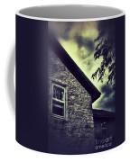 Stone House In Storm Coffee Mug