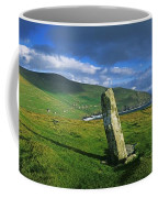 Stone On A Landscape, Ogham Stone Coffee Mug