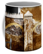 Stone Sight - Two Arches And A Column Draws A Disturbing Almost Human Face Coffee Mug
