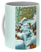 Stone Steps In Winter Coffee Mug by Jeff Kolker