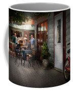 Storefront - Frenchtown Nj - At A Quaint Bistro  Coffee Mug by Mike Savad