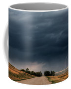 Storm Clouds And Lightning Along A Saskatchewan Country Road Coffee Mug