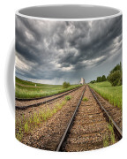 Storm Clouds Over Grain Elevator Coffee Mug