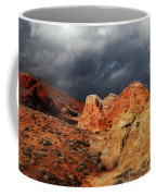 Stormy Skies Over Valley Of Fire Coffee Mug