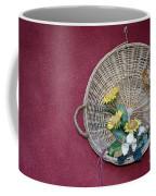 Straw Basket With Flowers Coffee Mug