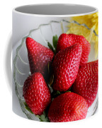 Strawberries And Yellow Mum Coffee Mug by Barbara Griffin