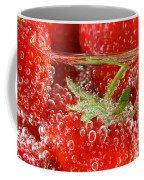 Strawberries In Water Close Up Coffee Mug