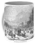 Street Railway, 1853 Coffee Mug