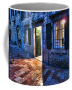 Street Scene In Ancient Kotor Montenegro Coffee Mug by David Smith