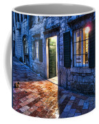 Street Scene In Ancient Kotor Montenegro Coffee Mug by David Smith