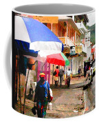 Street Scene In Rosea Dominica Filtered Coffee Mug