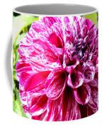 Striped Dahlia Coffee Mug