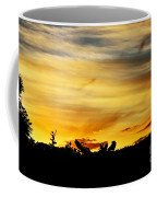 Stripey Sunset Silhouette Coffee Mug
