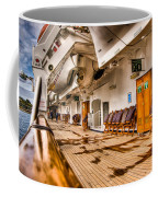 Strolling The Deck Of The Oosterdam Coffee Mug