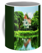 Suburban House With Reflection Coffee Mug