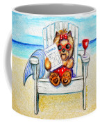 Sudoku At The Beach Coffee Mug