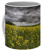 Summer Storm Clouds Over A Canola Field Coffee Mug