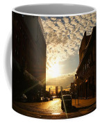 Summer Sunset Over A Cobblestone Street - New York City Coffee Mug