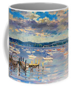 Sun And Clouds In Hudson Coffee Mug