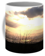 Sun Behind The Clouds On The Beach Coffee Mug