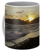 Sun Going Down Over Dubrovnik Coffee Mug