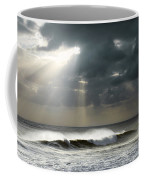 Sun Rays On Ocean Coffee Mug