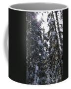 Sun Rays On Snowy Trees Coffee Mug