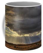 Sun Rays Through Clouds Over Three Old Coffee Mug