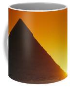 Sun Sets Behind Khufus Great Pyramid Coffee Mug
