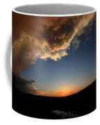 Sun Setting Behind The Horizon In Saskatchewan Coffee Mug
