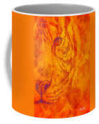 Sunburst Tiger On Fire Coffee Mug