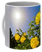 Sunflare And Yellow Roses Coffee Mug by Amber Flowers