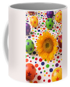 Sunflower And Colorful Balls Coffee Mug