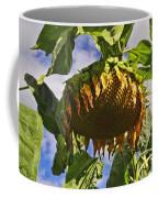 Sunflower At Fall Coffee Mug