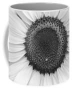 Sunflower Center Black And White Coffee Mug