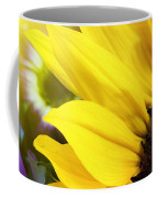 Sunflower Closeup In Landscape Coffee Mug