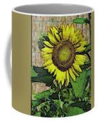 Sunflower Face Coffee Mug