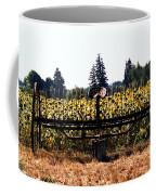 Sunflower Farm Scene Coffee Mug