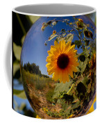 Sunflower Through A Glass Eye Coffee Mug