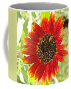 Sunflower With Bee Coffee Mug