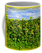 Sunflowers In France Coffee Mug by Joan  Minchak