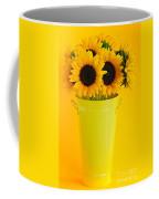 Sunflowers In Vase Coffee Mug