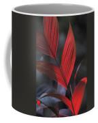 Sunlight Illuminates The Red Leaves Coffee Mug